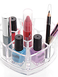 cheap -Loving Heart Makeup Storage Stand Brush Pot Cosmetic Organizer for Lipstick Nail Polish