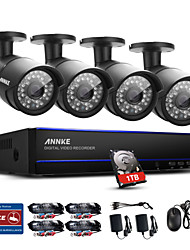 cheap -ANNKE® 8CH 1080P 4PCS HD Video PoE IP Network CCTV AHD DVR Waterproof Camera Home Surveillance Security System IR Day Night Vision 1TB
