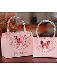 Cuboid Card Paper Favor Holder With Bow Favor Boxes Gift Boxes-10