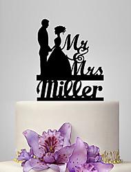 Decorazioni torte Personalizzato Coppiaclassica Acrilico Matrimonio Anniversario Addio al celibato/nubilato Classico Favola OPP