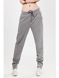 Da donna A vita medio-alta Attivo Media elasticità Pantaloni della tuta Pantaloni,Harém Tinta unita Tinta unita
