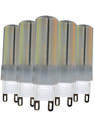 abordables -6W G9 Luces LED de Doble Pin T 136 leds SMD 3014 Regulable Decorativa Blanco Cálido Blanco Natural Blanco 500-600lm