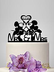 Décorations de Gâteaux Thème classique Thème de conte de fées Fun & Amusant Acrylique Mariage Enterrement de Vie de Jeune Fille Fête de