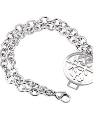 Women's Charm Bracelet Friendship Fashion Stainless Steel Tree of Life Jewelry For Wedding Party Anniversary Birthday Engagement Gift