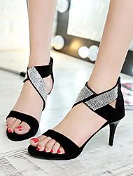 Da donna-Tacchi-Formale Serata e festa-Comoda Club Shoes-A stiletto-Scamosciato-Nero Verde militare