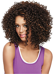 cheap -Mixed Brown Color Wig For Black Women Heat Resistant Synthetic Wigs Curly Synthetic Women Afro European Wig