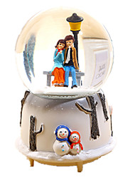 cheap -Music Box Snow Globe Sphere Glow in the Dark Fluorescent Kid's Adults Kids Gift Crystal Unisex