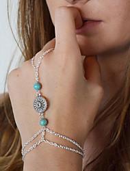 abordables -Femme Bracelets Bagues - Européen Bracelet Argent Pour Quotidien / Décontracté