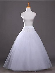 cheap -Wedding Party / Evening Slips Cotton Polyester Tulle Floor-length Tea-Length Glossy A-Line Slip Ball Gown Slip with White Bow