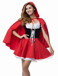 cheap -Cosplay Costumes / Party Costume Innocent Little Red Riding Hood Red Polyester Women's Halloween Party Costume