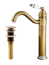 cheap -Faucet Set - Pre Rinse Widespread Rotatable Antique Copper Centerset Single Handle One Hole