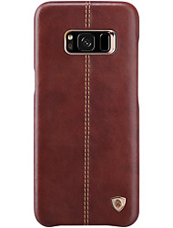economico -Custodia Per Samsung Galaxy S8 Plus S8 Ultra sottile Custodia posteriore Tinta unica Resistente Vera pelle per S8 S8 Plus