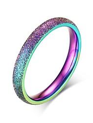 preiswerte -Damen Ring - Edelstahl Personalisiert, Grundlegend, Simple Style 5 / 6 / 7 Verschiedene Farben Für Party / Jahrestag / Geburtstag
