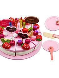 economico -Alimenti a giocattolo Giochi di emulazione Giocattoli Circolare Stampi per torte e biscotti Dolci Torta Legno Per bambini Regalo 1pcs