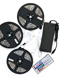 ZDM 15M(3*5M) Waterproof 100W 450X5050 RGB  LEDs Strip Flexible Light  and 44Key IR Remote Controller Kit and 12V 8A EU/US/AU Power Supply AC110-240V