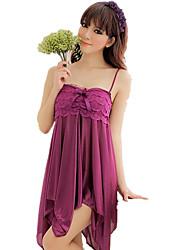 cheap -Women's Suits Nightwear,Strap Jacquard-Thin Rayon Spandex Black Purple