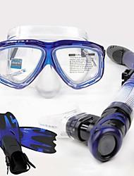 baratos -Pacotes de Mergulho Kits para Snorkeling Protecção Natação Mergulho Silicone Fibra de Vidro