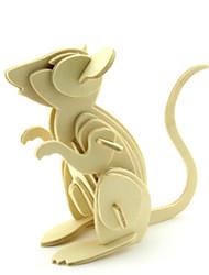 Недорогие -3D пазлы Игрушки Мышь Дерево Универсальные Куски