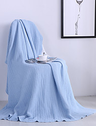 Knitted,Solid Solid 100% Cotton Blankets