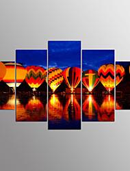 baratos -Estampados de Lonas Esticada Paisagem Modern, 5 Painéis Tela de pintura qualquer Forma Estampado Decoração de Parede Decoração para casa