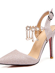 Women's Sandals Spring Summer Club Shoes D'Orsay & Two-Piece Leatherette Wedding Party & Evening Dress Stiletto HeelImitation Pearl