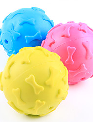 cheap -Dog Toy Pet Toys Ball Chew Toy Squeak / Squeaking Bone Rubber For Pets