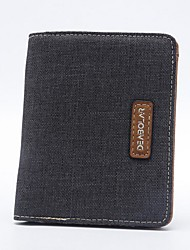 cheap -Men's Bags PU Canvas Bi-fold Wallet for Casual Sports Outdoor All Seasons Black Dark Blue Gray