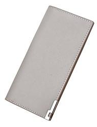 cheap -Men's Bags PU Bi-fold Wallet for Shopping Casual Office & Career All Seasons Black Ginger Dark Blue Gray Khaki