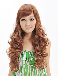 cheap -Capless Long Deep Wavy Wig Synthetic Fiber Wig Heat Resistant Hairstyle