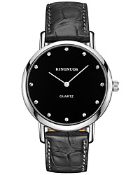 cheap -KINGNUOS Men's Casual Watch Fashion Watch Wrist Watch Quartz Creative Cool Leather Band Analog Casual Black / Brown - Black Brown