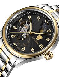 Tevise Bărbați Pentru cupluri Ceas La Modă ceas mecanic Quartz Calendar Rezistent la Apă Luminos Oțel inoxidabil BandăVintage Boem Cool