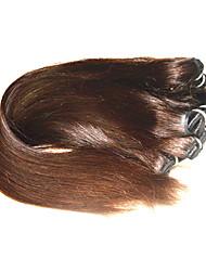 Недорогие -Натуральные волосы Пряди натуральных волос Реми Прямой Бразильские волосы 1000 g 6 месяца