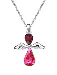 Women's Pendant Necklaces Crystal Chrome Unique Design Euramerican Fashion Personalized Light Blue Red Rose Red Jewelry ForWedding Party