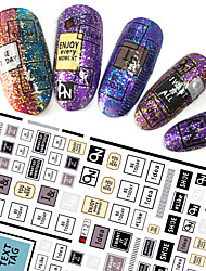 1pcs Fashion Nail Art 3D Stickers Lovely Image Personality English Alphabet Design For Nail DIY Beauty F121