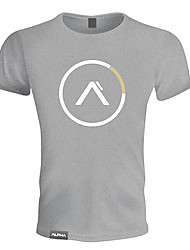 cheap -Men's Running T-Shirt Short Sleeves Breathable Soft Sweat-wicking Comfortable T-shirt Sweatshirt Top for Exercise & Fitness Leisure