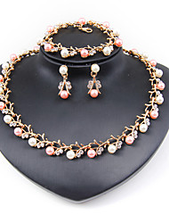 cheap -Women's Rhinestone Imitation Pearl Jewelry Set - Classic Euramerican Fashion Imitation Pearl Simple Style Circle Jewelry Set Pearl