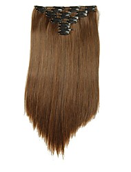 cheap -Synthetic hair Extensions 25inch Long 180g Straight Fake False Hair Extension Heat Resistant Synthetic Natural Hair Extension D1021 2/30#