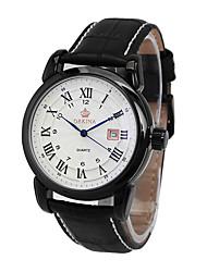 cheap -Men's Wrist Watch Hot Sale Leather Band Charm / Casual / Fashion Black / Brown