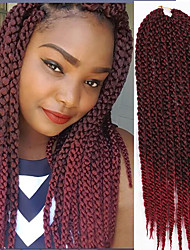 synthetic crochet braids 22inch ombre color cubic twist hair box braids 12roots/pcs crochet braiding kanekalon fiber  6-8pieces make full head