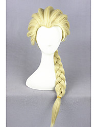 cheap -Elsa Light Yellow Synthetic 20inch Anime Cosplay Wigs CS-135A