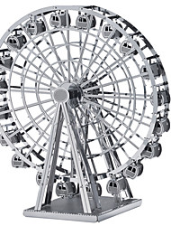 abordables -Puzzles 3D Puzzles en Métal Kits de Maquette Jouets Grande roue Bois Unisexe Pièces