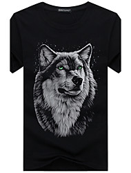 cheap -Men's Weekend Plus Size Cotton T-shirt Print Round Neck