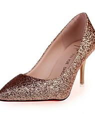 Women's Heels Summer Fall Comfort Novelty PU Outdoor Office & Career Party & Evening Dress Casual Stiletto Heel Red Silver Black Gold