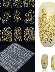cheap -1 3D Nail Stickers Chic & Modern Elegant & Luxurious Fashion Daily High Quality Nail Art Design