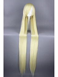 cheap -Synthetic Wig Straight Blonde Women's Capless Carnival Wig Halloween Wig Cosplay Wig Very Long Synthetic Hair