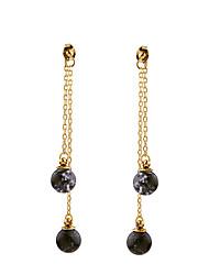 cheap -Women's Crystal Long Stud Earrings - Personalized, Euramerican Black For Housewarming / Thank You / Business