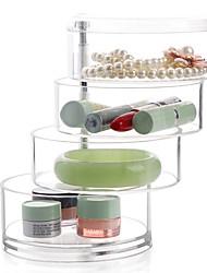 cheap -Plastic Round Transparent Multifunction Transparent Body Home Organization, 1pc Drawers