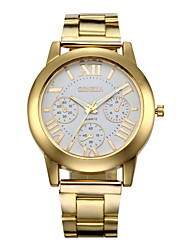 cheap -Luxury Geneva Fashion Women Ladies Watches Gold Stailess Steel Roman Numerals Analog Quartz Wrist Watch Cool Watches Unique Watches Strap Watch