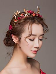 baratos -tulle titanium alloy flowers headpiece estilo feminino clássico