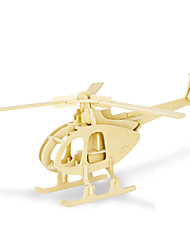 cheap -3D Puzzles Jigsaw Puzzle Wood Model Model Building Kit Helicopter 3D DIY Wood Classic Kid's Gift